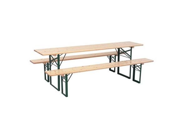 bankenset 50-70 cm compleet, tafel met 2 banken