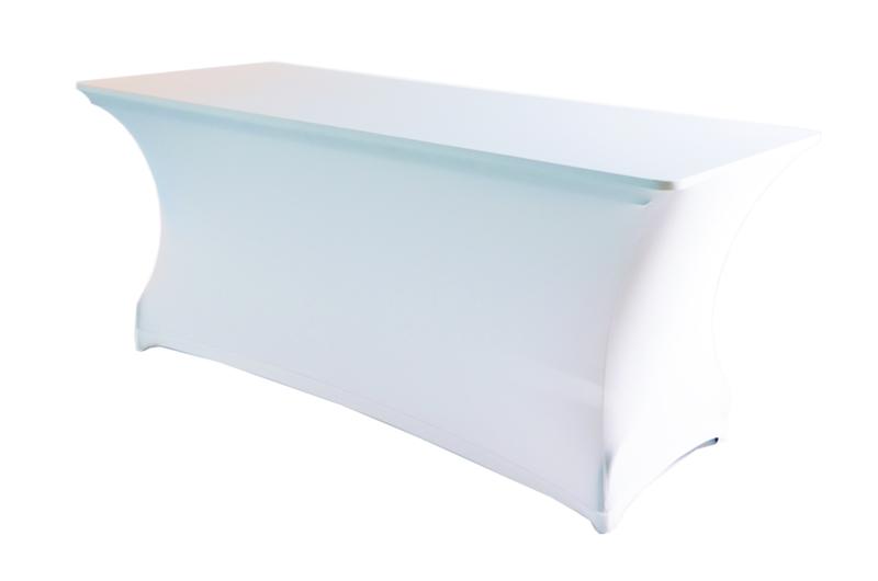 Klaptafel 1,80 x 0,75 m incl kleed wit